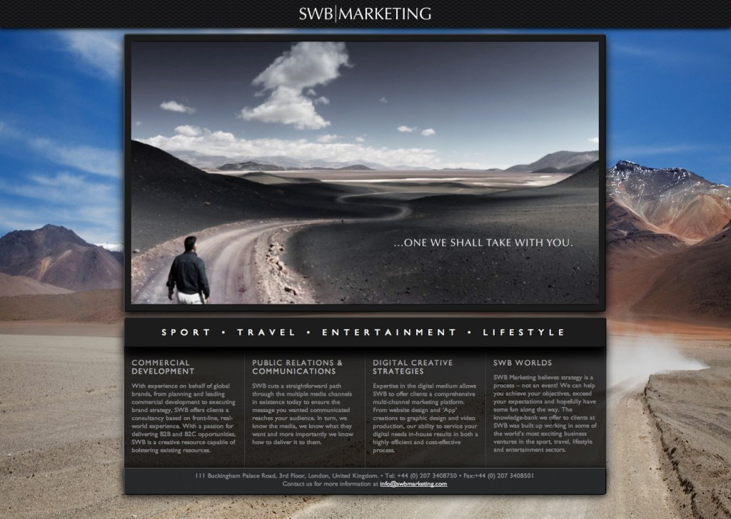SWB Marketing website
